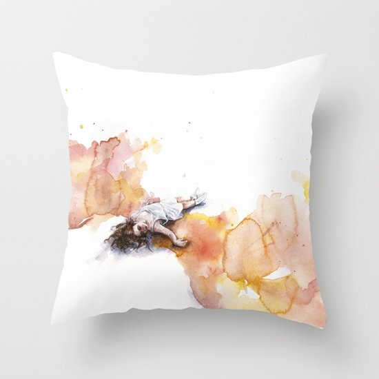 take off in flight Throw Pillow