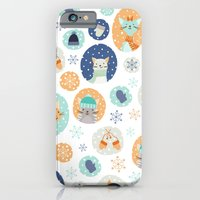 iPhone & iPod Case featuring Cozy Kitties by Stephanie Fizer Coleman