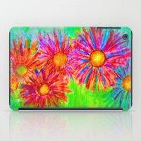 Bright Sketch Flowers iPad Case