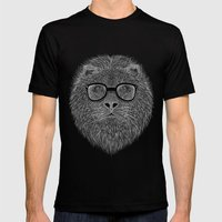 WHITE LION Mens Fitted Tee Black SMALL
