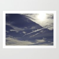winter skies Art Print