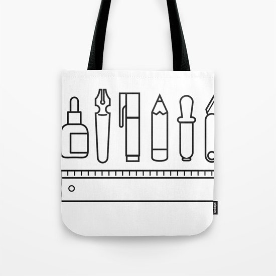 CREATIVE TOOLS / Geometrical portrait of my creative tools. Tote Bag