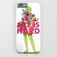 Art Is Hard - Flower Girl iPhone 6 Slim Case