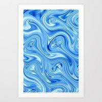 Ice Flow Art Print