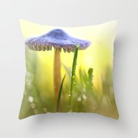 Magic Mushroom... Throw Pillow