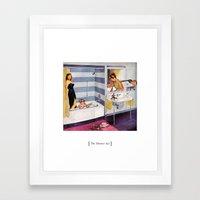 The Shower Act Framed Art Print