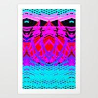 Neon Time Art Print