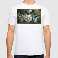 Paradise Galaxy Dream Mens Fitted Tee Ash Grey SMALL
