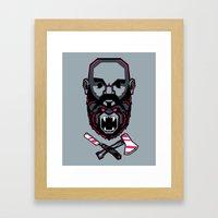 Wild BEARd Framed Art Print