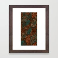 ORGANIC LEAVES Framed Art Print