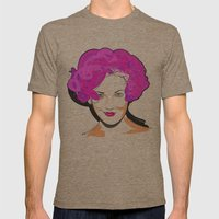 Drew Barrymore Mens Fitted Tee Tri-Coffee SMALL