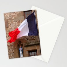 France flag at Mont St. Michel Stationery Cards
