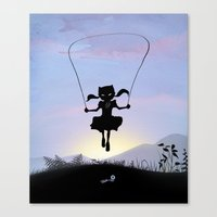 Cat Kid Canvas Print