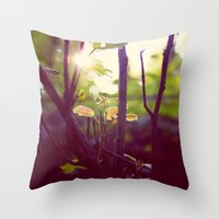 Faery Forest Throw Pillow