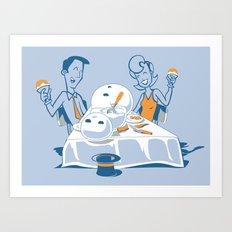 Neighbors Ate My Snowman Art Print