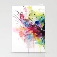 Skies On Fire  Stationery Cards