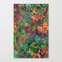 Floral Abstract Stained Glass G176 Canvas Print