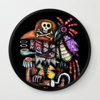 Old Pirate Wall Clock