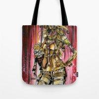 Zombie Ventriloquist Gir… Tote Bag