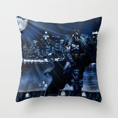 Dark Knight version 2 Throw Pillow
