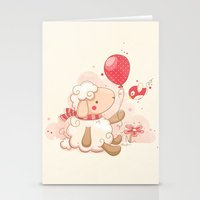 Sheep & Balloon Stationery Cards