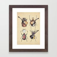 Meet the Beetles Framed Art Print