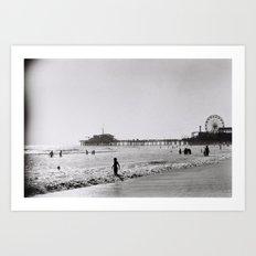 Santa Monica on Film Art Print