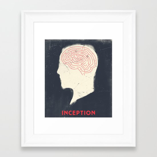 Inception - Movie Poster Framed Art Print