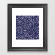 Spiderwebs - Webs on navy blue Framed Art Print