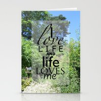 Life is just Stationery Cards