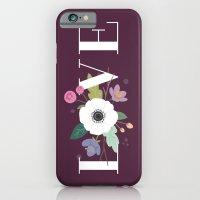 Floral Love - in Plum iPhone 6 Slim Case