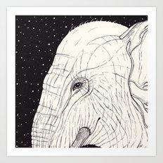 animal moments: elephant Art Print