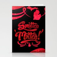 Smitten with the Mitten (Blue Version) Stationery Cards