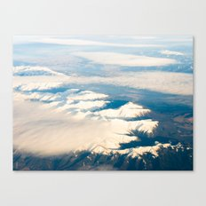 Mountains with snow Canvas Print