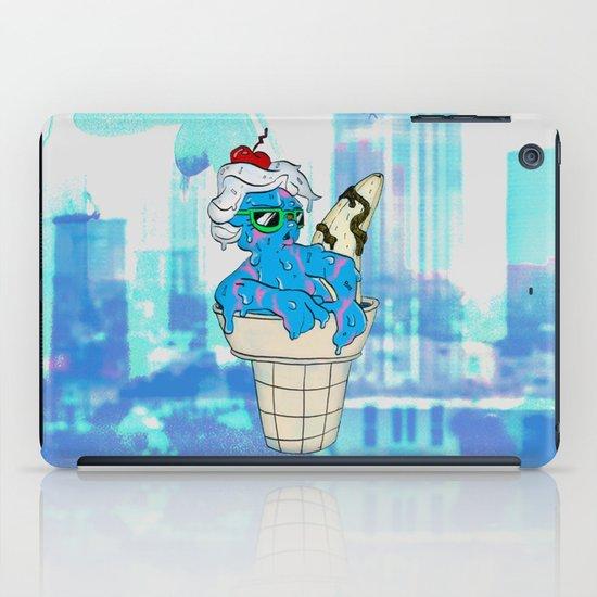 """Sassy Summer Ice Cream Lady"" by Virginia McCarthy & Cap Blackard iPad Case"