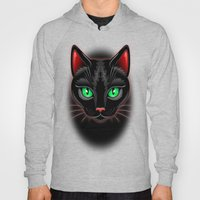 Black Cat Portrait Hoody