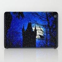 Snowfall At Full Moon iPad Case
