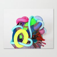 Stained Structuring Canvas Print