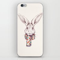 Bunny and scarf iPhone & iPod Skin