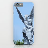 iPhone & iPod Case featuring Angel and blue skies by Marieken