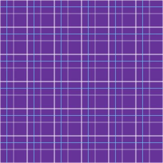 Purple plaid Art Print