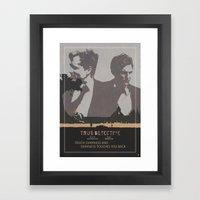 Poster True Detective 2 Framed Art Print