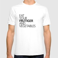 EAT YOUR FRUTIGER AND VEGETABLES Mens Fitted Tee White SMALL