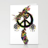 Peace dream cather Stationery Cards