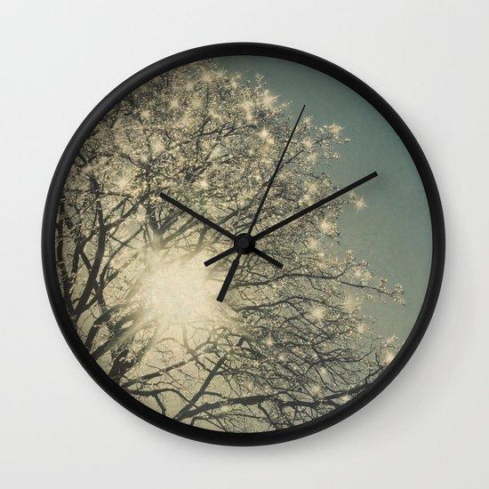 Winter Sparkle Wall Clock