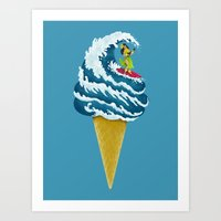 Perfect Wave Art Print