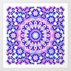 Fez Moroccan Tiles {4C} Art Print