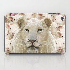 Lambs led by a lion iPad Case