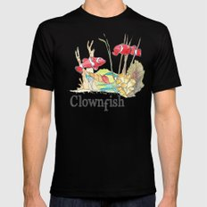 C is for Clownfish SMALL Mens Fitted Tee Black