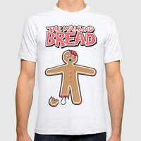The Walking Bread  Mens Fitted Tee Ash Grey SMALL